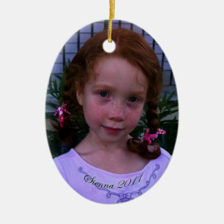 Sienna Oval Christmas Ornament