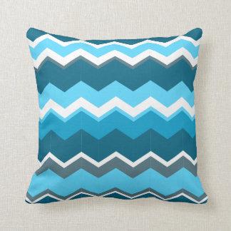 Sierkussen vierkant zigzag blue blank line throw cushions