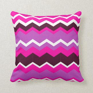 Sierkussen vierkant zigzag purple pink blank line