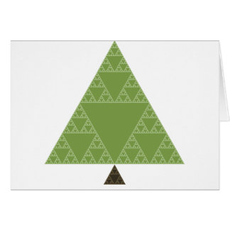 Sierpinski Triangle Tree Card