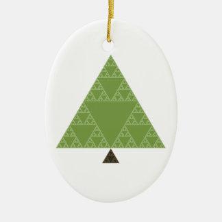 Sierpinski Triangle Tree Ceramic Oval Decoration