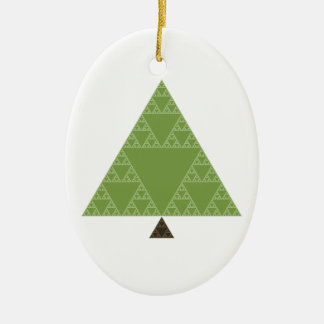 Sierpinski Triangle Tree Christmas Ornament