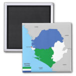 sierra leone country political map flag refrigerator magnets