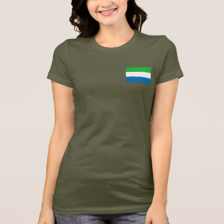 Sierra Leone Flag and Map dk T-Shirt