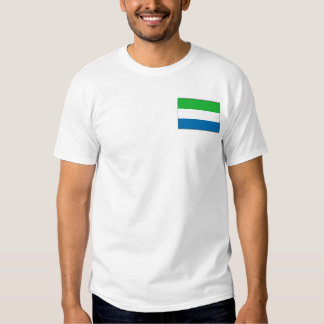 Sierra Leone Flag and Map T-Shirt
