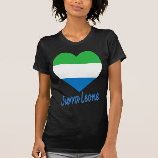 Sierra Leone Flag Heart T-Shirt