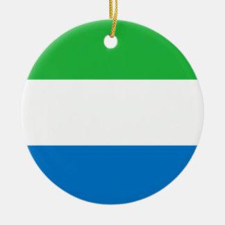 Sierra Leone Flag Ornament