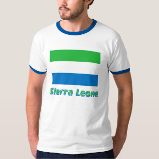Sierra Leone Flag with Name T-Shirt