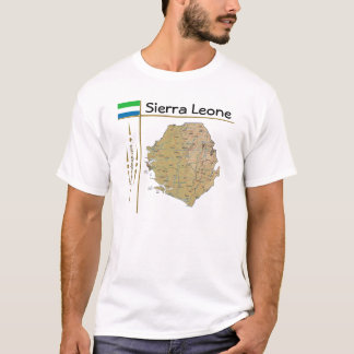 Sierra Leone Map + Flag + Title T-Shirt