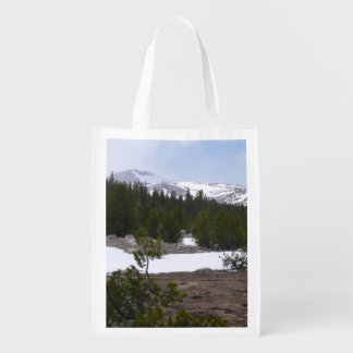 Sierra Nevada Mountains and Snow at Yosemite