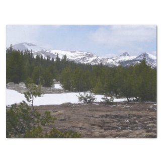 Sierra Nevada Mountains and Snow at Yosemite Tissue Paper