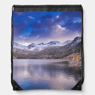 Sierra Nevada Mountains, Autumn, CA Drawstring Bag