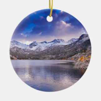 Sierra Nevada Mountains, Autumn, CA Round Ceramic Decoration