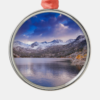 Sierra Nevada Mountains, Autumn, CA Silver-Colored Round Decoration