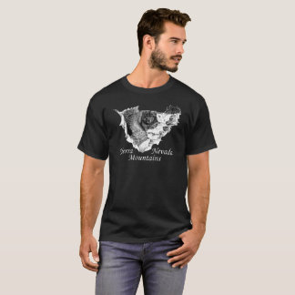 Sierra Nevada Mountains. Bear and Waterfall T-Shirt