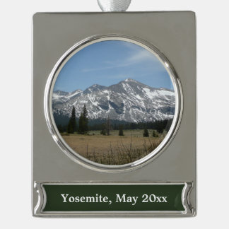 Sierra Nevada Mountains I from Yosemite Silver Plated Banner Ornament