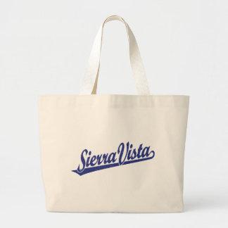 Sierra Vista script logo in blue distressed Tote Bag