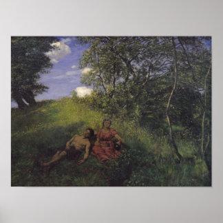 Siesta, 1889 poster