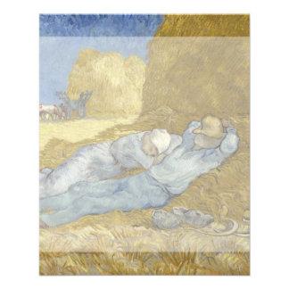 Siesta after Millet by Vincent Van Gogh 11.5 Cm X 14 Cm Flyer