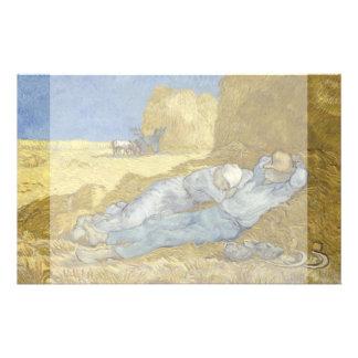 Siesta after Millet by Vincent Van Gogh 14 Cm X 21.5 Cm Flyer