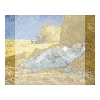 Siesta after Millet by Vincent Van Gogh 21.5 Cm X 28 Cm Flyer