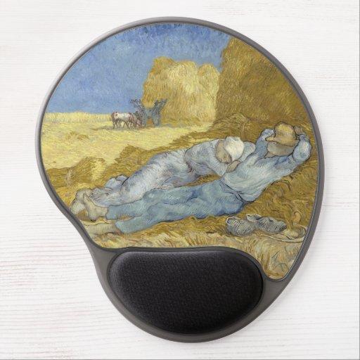 Siesta after Millet by Vincent Van Gogh Gel Mouse Pad