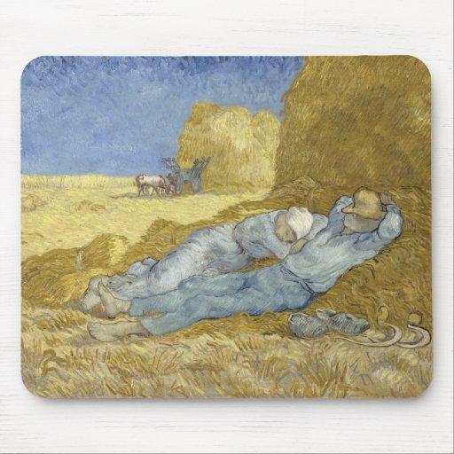 Siesta after Millet by Vincent Van Gogh Mouse Pads
