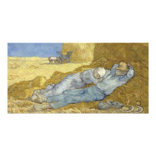 Siesta after Millet by Vincent Van Gogh Custom Photo Card