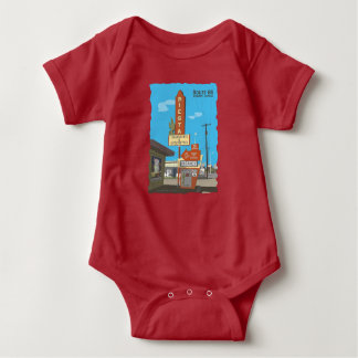 Siesta Apartments on Route 66 Baby Bodysuit