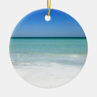 Siesta Beach Gulf Coast Christmas Ornament