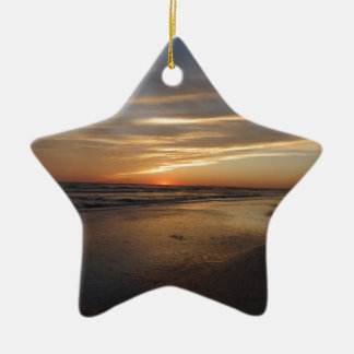 Siesta Key Beach Sunset Christmas Ornament