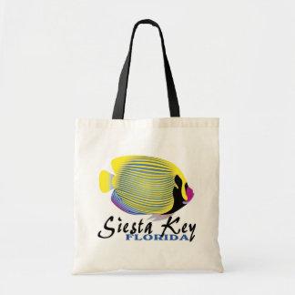 Siesta Key Florida tropical fish grocery bag
