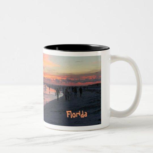 Siesta Key, Florida Two-Tone Coffee Mug