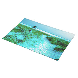 Siesta Keys Beach in Colored Edges Themed Gifts Placemat