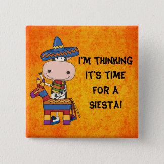 Siesta Mexican cow button