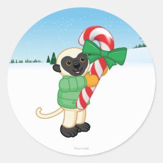 Sifaka Lemur Classic Round Sticker