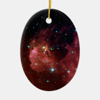 sig07-006 Red dust sky cloud Ceramic Oval Decoration