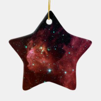 sig07-006 Red dust sky cloud Ceramic Star Decoration
