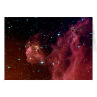 sig07-006 Red dust sky cloud Greeting Card