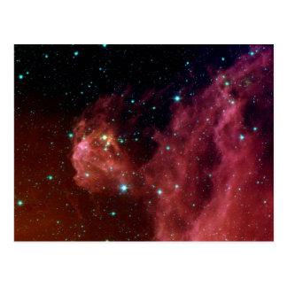 sig07-006 Red dust sky cloud Postcard
