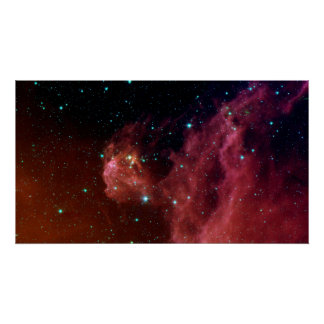 sig07-006 Red dust sky cloud Poster