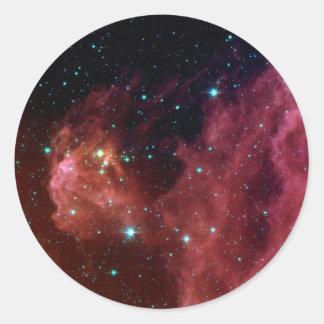 sig07-006 Red dust sky cloud Round Sticker