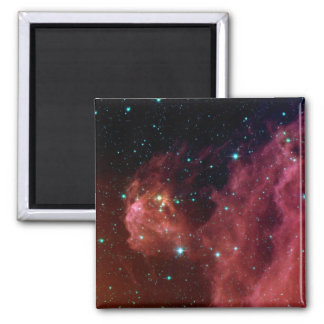 sig07-006 Red dust sky cloud Square Magnet
