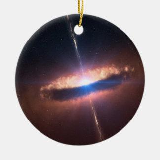 sig10-012 disk around a bright baby star round ceramic decoration
