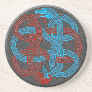 Sigdrifa's Prayer Serpents Coaster - Stone