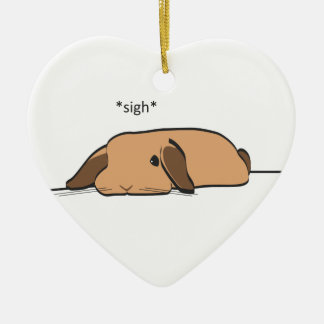 SIGHING LOP CHRISTMAS ORNAMENT