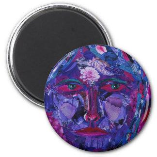 Sight – Magenta & Violet Inner Vision 6 Cm Round Magnet