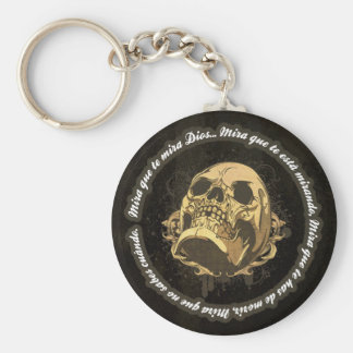 Sight that to you God watches Basic Round Button Key Ring
