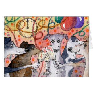 Sighthounds are the original party animals... greeting card