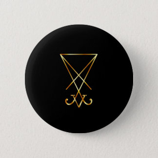 Sigil of Lucifer- A symbol of satanism 6 Cm Round Badge